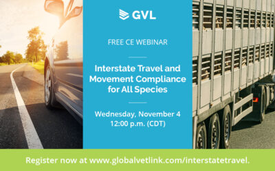 Interstate Travel and Movement Compliance for All Species – free CE webinar